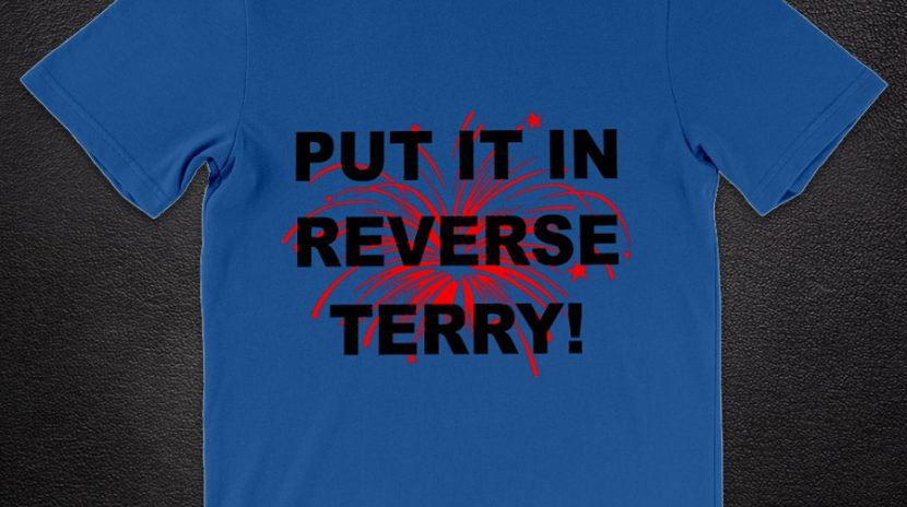 Fireworks Put it in reverse Terry shirt