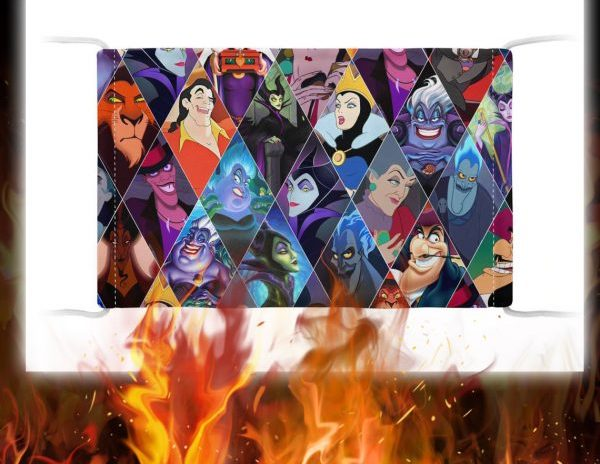 Evil characters disney face mask